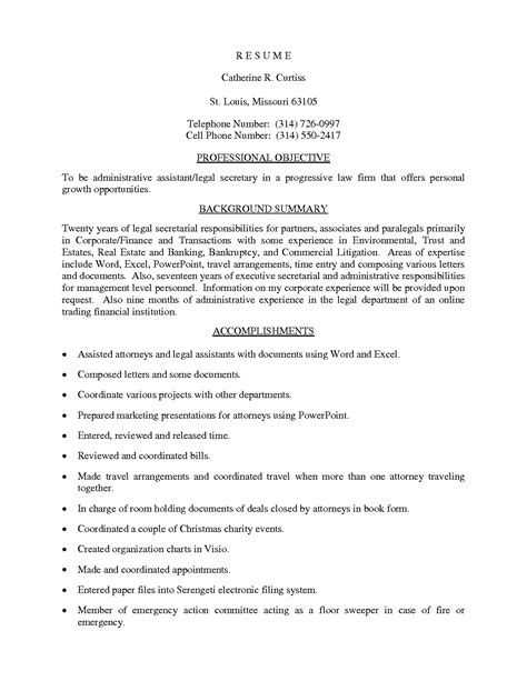Job description legal assistant resume png 1275x1650